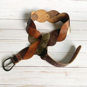 Western Boho Leather Belt M/L
